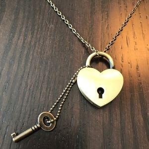 Key and Heart long necklace